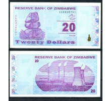 Зимбабве 20 долларов 2009
