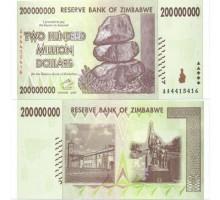 Зимбабве 200000000 долларов 2008