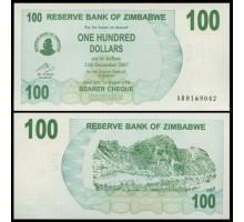 Зимбабве 100 долларов 2006