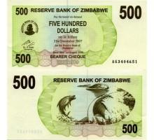 Зимбабве 500 долларов 2006