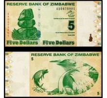 Зимбабве 5 долларов 2009