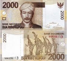 Индонезия 2000 рупии 2009-2014