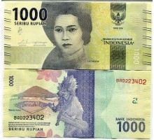 Индонезия 1000 рупий 2016-2017