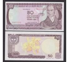 Колумбия 50 песо 1986