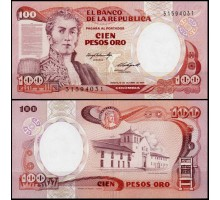 Колумбия 100 песо 1983