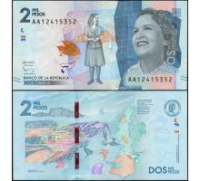 Колумбия 2000 песо 2015 (2016)