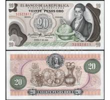Колумбия 20 песо 1983