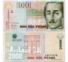 Колумбия 2000 песо 2014