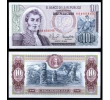 Колумбия 10 песо 1980
