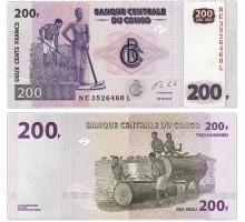 Конго 200 франков 2013