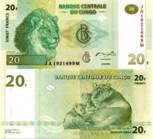 Конго 20 франков 2003