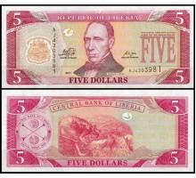 Либерия 5 долларов 2011