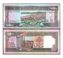 Ливан 500 ливров 1988