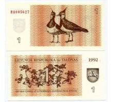Литва 1 талон 1992