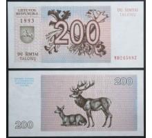 Литва 200 талонов 1993