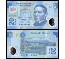 Мексика 20 песо 2016 полимер