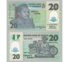 Нигерия 20 найра 2016 полимер