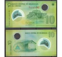 Никарагуа 10 кордоба 2007 (2009-2012) (полимер)