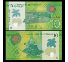 Никарагуа 10 кордоба 2014 (2015) (полимер)