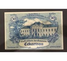 Австрия 50 геллеров 1920 Eckartsau Нотгельд