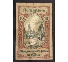 Австрия 10 геллеров 1920 Нотгельд