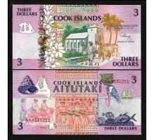 Острова Кука 3 доллара 1992