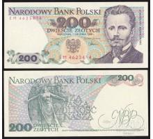Польша 200 злотых 1988