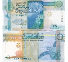 Сейшельские острова 10 рупий 1998-2010