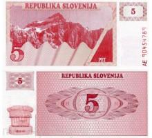 Словения 5 толаров 1990