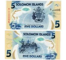 Соломоновы острова 5 долларов 2019 полимер