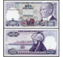 Турция 1000 лир 1986