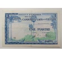Французский Индокитай 1 пиастр 1954