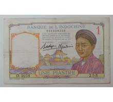 Французский Индокитай 1 пиастр 1936