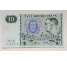 Швеция 10 крон 1966