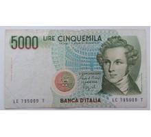 Италия 5000 лир 1985