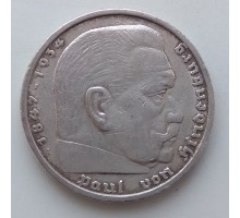 Германия 5 рейхсмарок 1935 A серебро