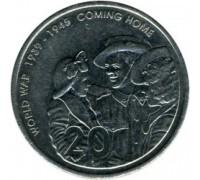 Австралия 20 центов 2005. 60 лет окончания Второй Мировой войны