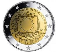 Австрия 2 евро 2015. 30 лет флагу Европейского союза