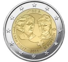 Бельгия 2 евро 2011. 100 лет Международному женскому дню