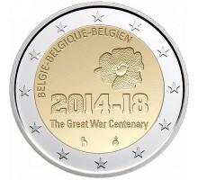 Бельгия 2 евро 2014. 100 лет начала Первой Мировой войны