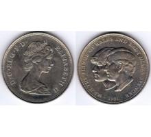Великобритания 1 Крона 1981. Чарльз и Диана