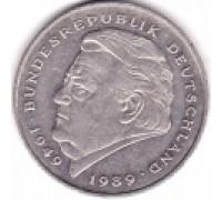 Германия (ФРГ) 2 марки 1990-2001. Франц Йозеф Штраус, 40 лет Федеративной Республике