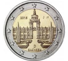 Германия 2 евро 2016. Саксония