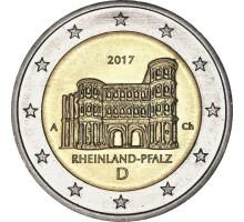 Германия 2 евро 2017. 12-я монета серии Федеральные земли Германии - Рейнланд-Пфальц
