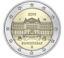 Германия 2 евро 2019. 70 лет Бундесрату