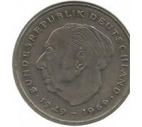 Германия (ФРГ) 2 марки 1987 G Теодор Хойс, 20 лет Федеративной Республике (1949-1969)
