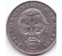 Германия (ФРГ) 2 марки 1988 F. Людвиг Эрхард, 40 лет Федеративной Республике (1948-1988)
