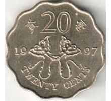 Гонконг 20 центов 1997. Возврат Гонконга под юрисдикцию Китая