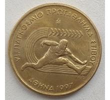 Греция 100 драхм 1997. VI Международный Чемпионат в Афинах, Легкая атлетика