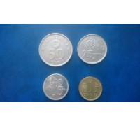 Испания 1980. Набор 4 монеты Чемпионат мира по футболу 1982